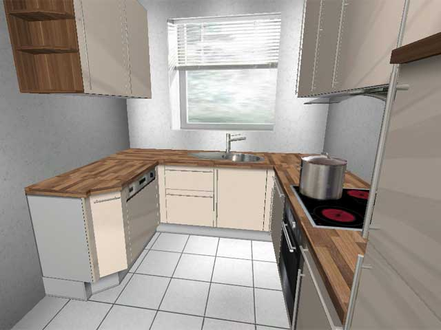 Küchenzeile u form klein  U- Küche ALNO Eckschrank Highbord Softclosing Neu aus Insolvenz L ...