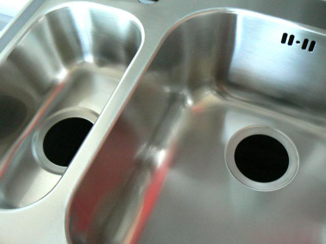 60 cm Aufsatz Spülbecken Einbau 2 Becken Edelstahl Spüle  ~ Spülbecken Tisch