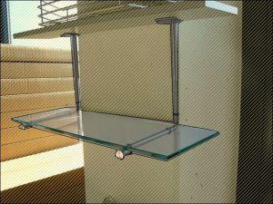 variostar regal glasablage glasbord sicherheitsglas mit polierter kante 58cm ebay. Black Bedroom Furniture Sets. Home Design Ideas