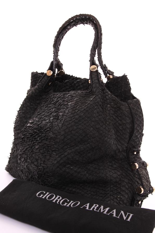 giorgio armani handtasche tasche bag schwarz barsch ebay. Black Bedroom Furniture Sets. Home Design Ideas