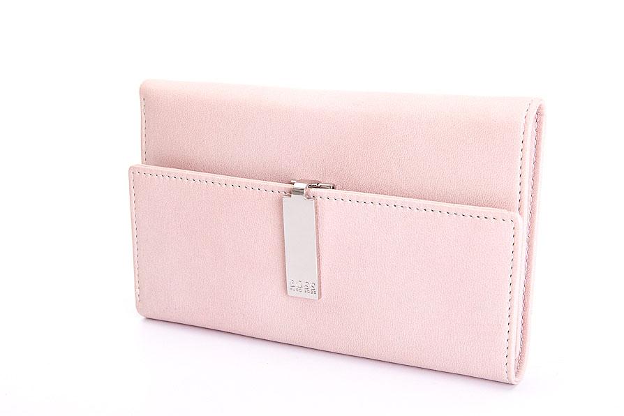 hugo boss portemonnaie rosa aus echtleder neu ebay. Black Bedroom Furniture Sets. Home Design Ideas