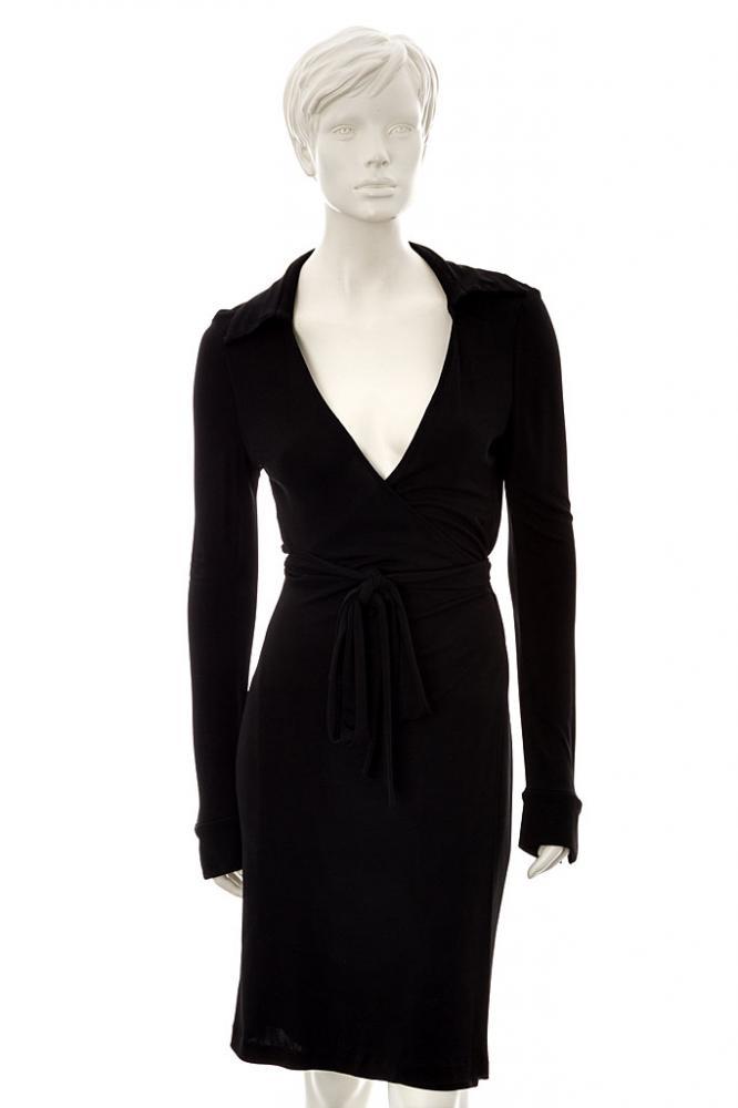 diane von f rstenberg wickelkleid schwarz ebay