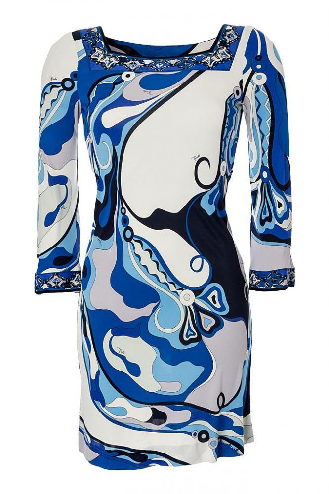 EMILIO PUCCI Kleid blau/weiß, Gr.34/XS | eBay