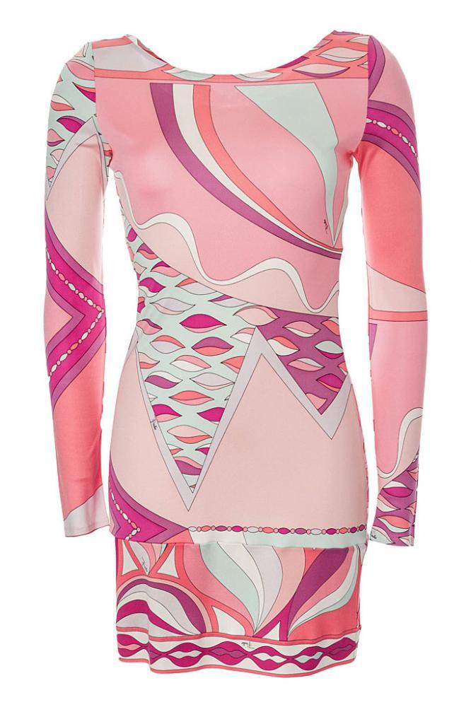 EMILIO PUCCI Kleid rosa, Gr.36/S - 100% Seide | eBay