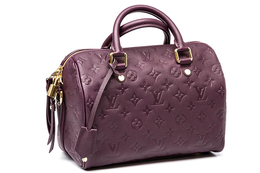 louis vuitton handtasche lila speedy 25 monogram empreinte kalbsleder ebay. Black Bedroom Furniture Sets. Home Design Ideas