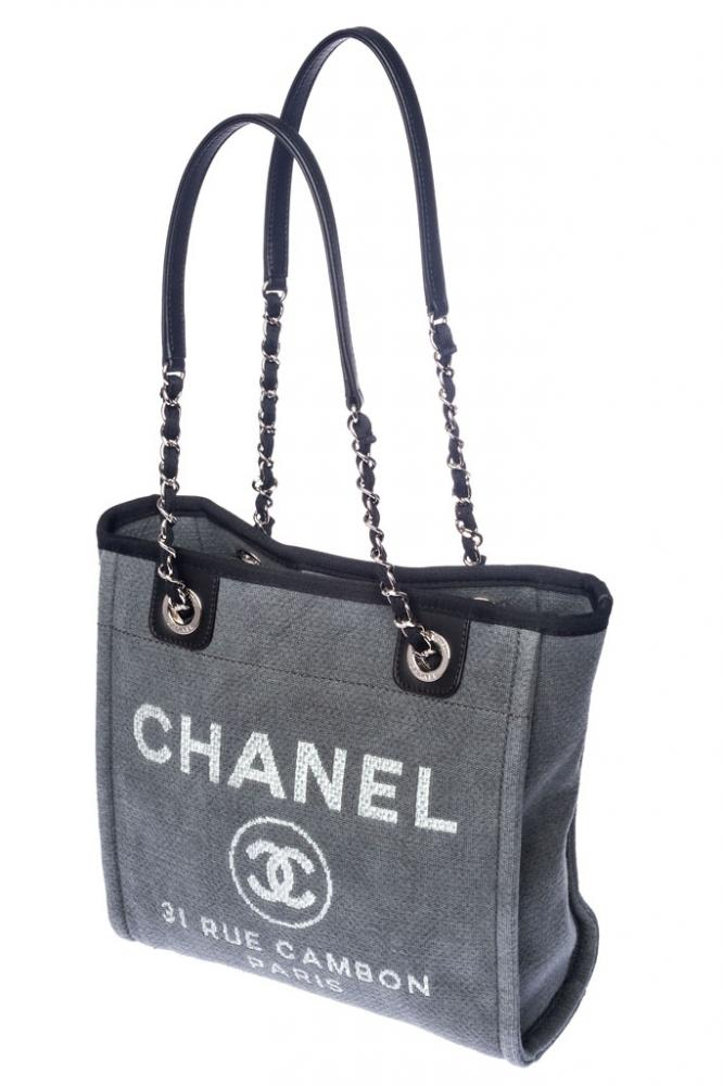 chanel tasche grau rue cambon wie neu ebay. Black Bedroom Furniture Sets. Home Design Ideas