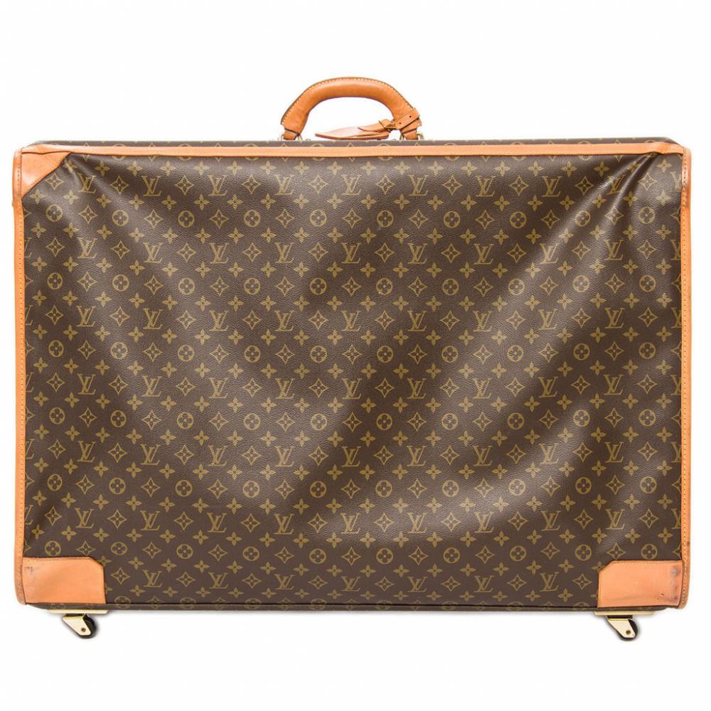 louis vuitton koffer braun beige monogram canvas ebay. Black Bedroom Furniture Sets. Home Design Ideas