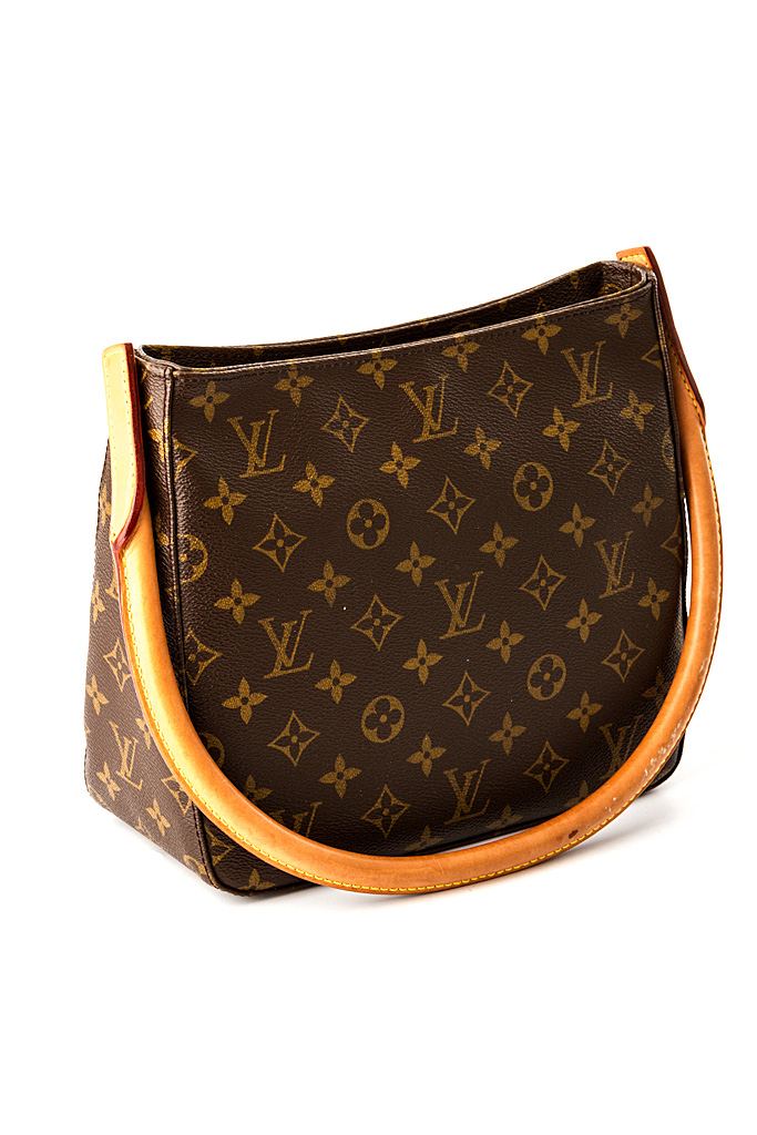 louis vuitton handtasche braun looping in monogram canvas wie neu ebay. Black Bedroom Furniture Sets. Home Design Ideas