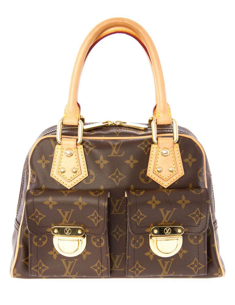 louis vuitton handtasche manhatten monogram canvas wie neu ebay. Black Bedroom Furniture Sets. Home Design Ideas