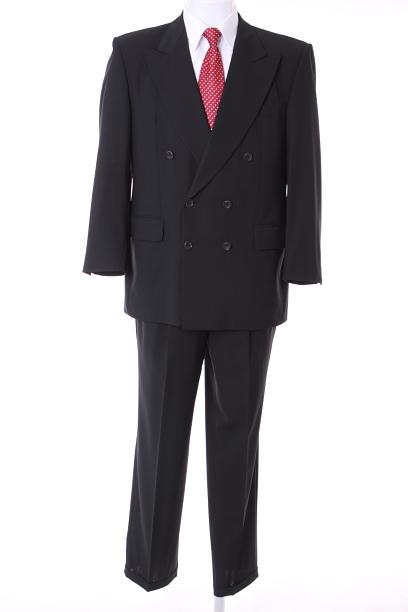 Ermenegildo-Zegna-Anzug-schwarz-Gr-46-S