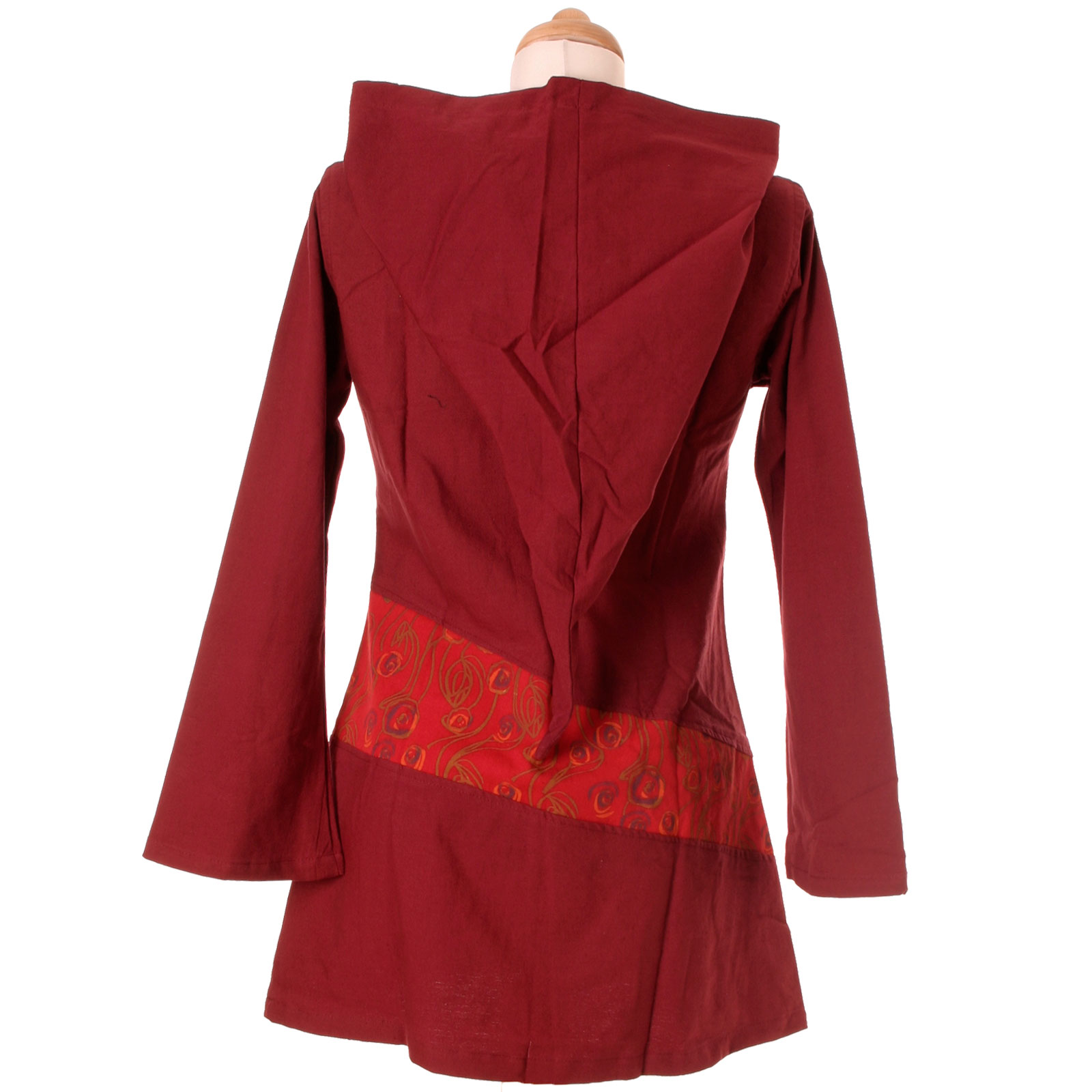 vishes goa hippie kleid zipfelkapuze tunika kapuze hoodie hoody ethno nepal xxl ebay. Black Bedroom Furniture Sets. Home Design Ideas