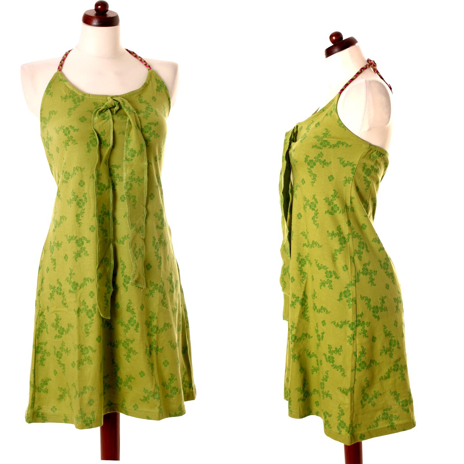 vishes sommer kleid hippie blumen floral neckholder ethno nepal tunika dress ebay. Black Bedroom Furniture Sets. Home Design Ideas