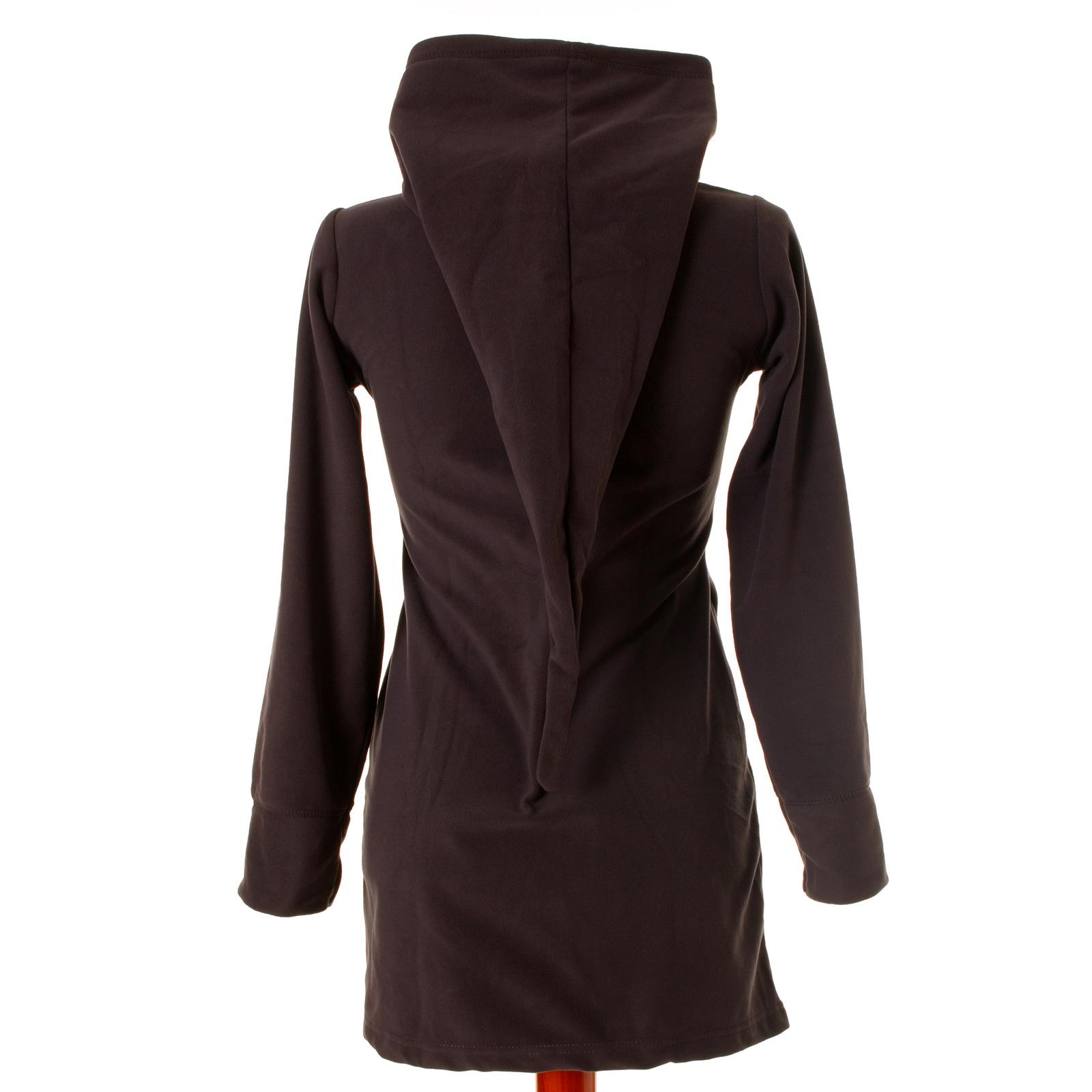 vishes damen fleece mantel jacke warme jacke zipfelkapuze. Black Bedroom Furniture Sets. Home Design Ideas