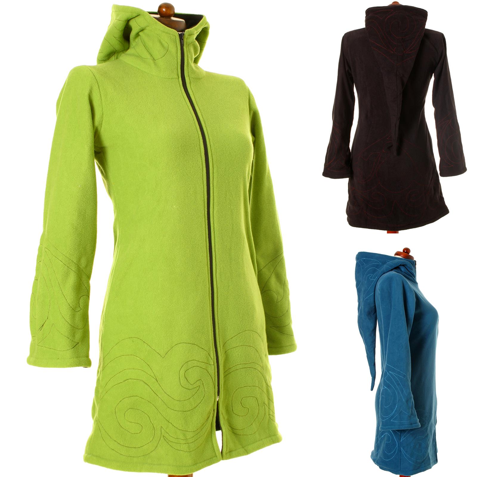 vishes fleece mantel stickerei boho wintermantel warm. Black Bedroom Furniture Sets. Home Design Ideas