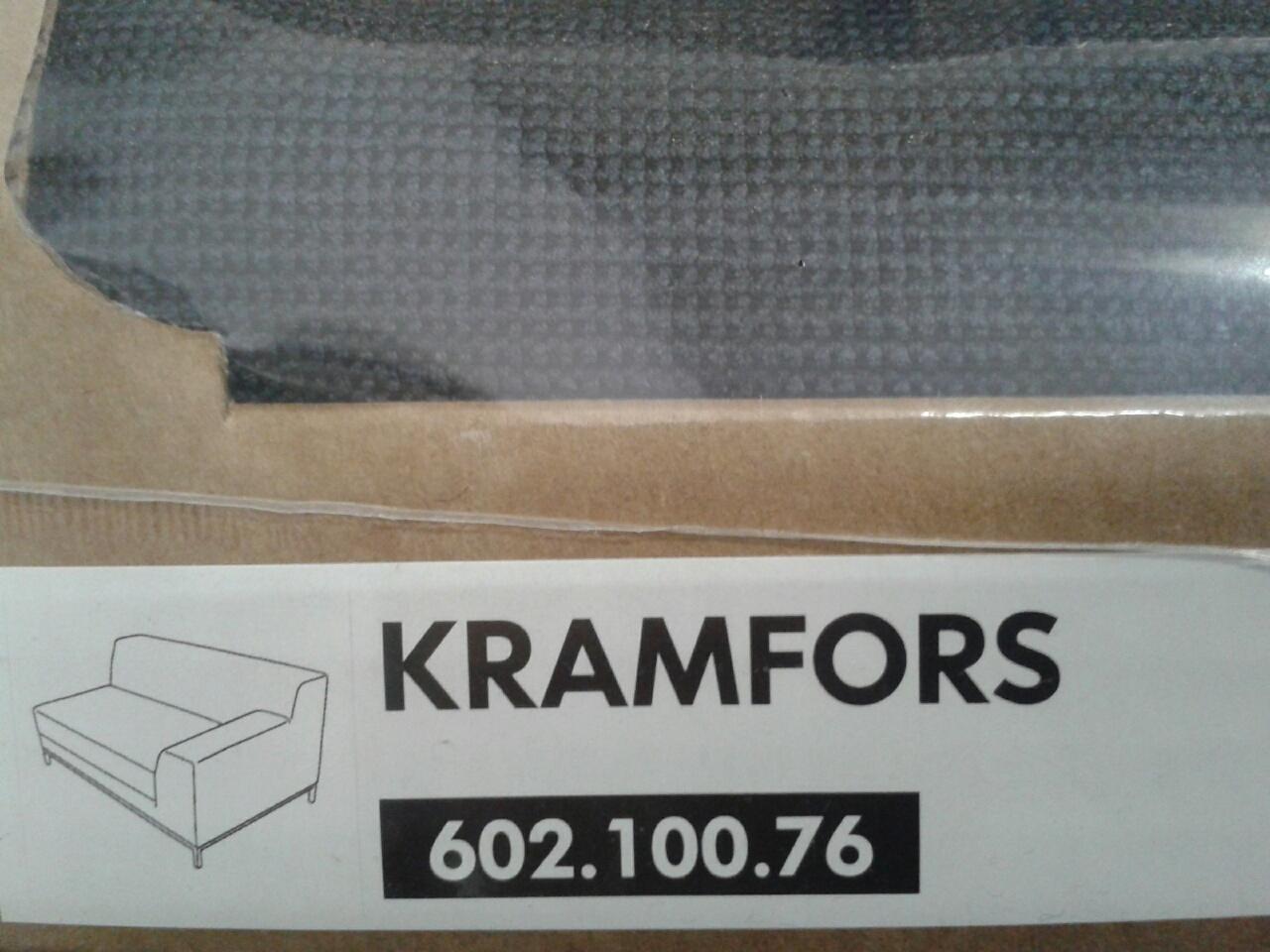 ikea kramfors sofabezug cover sanne grau viele angebote ebay. Black Bedroom Furniture Sets. Home Design Ideas