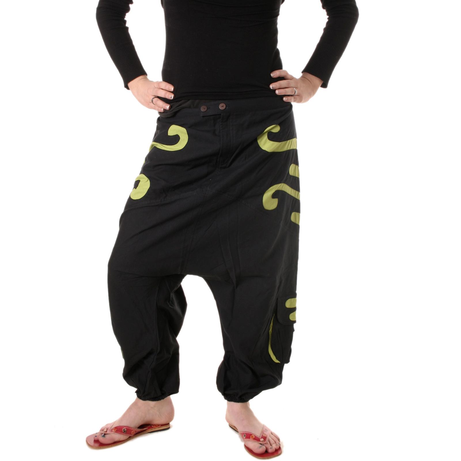goa hose pumphose aladdinhose nepal ethno haremshose pluderhose damen herrenhose ebay. Black Bedroom Furniture Sets. Home Design Ideas