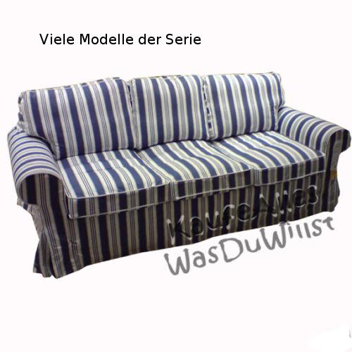ikea ektorp sofa bezug toftaholm blau bettsofa hocker ebay. Black Bedroom Furniture Sets. Home Design Ideas