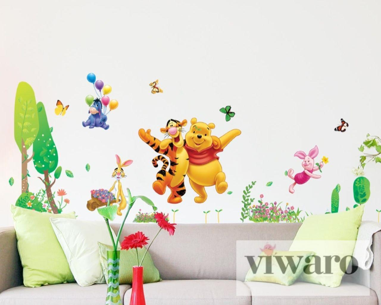 gem tlich winnie pooh wandtattoos kinderzimmer. Black Bedroom Furniture Sets. Home Design Ideas