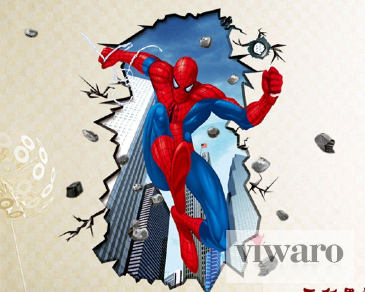 w190 wandtattoo spiderman superheld wandaufkleber sehr groß