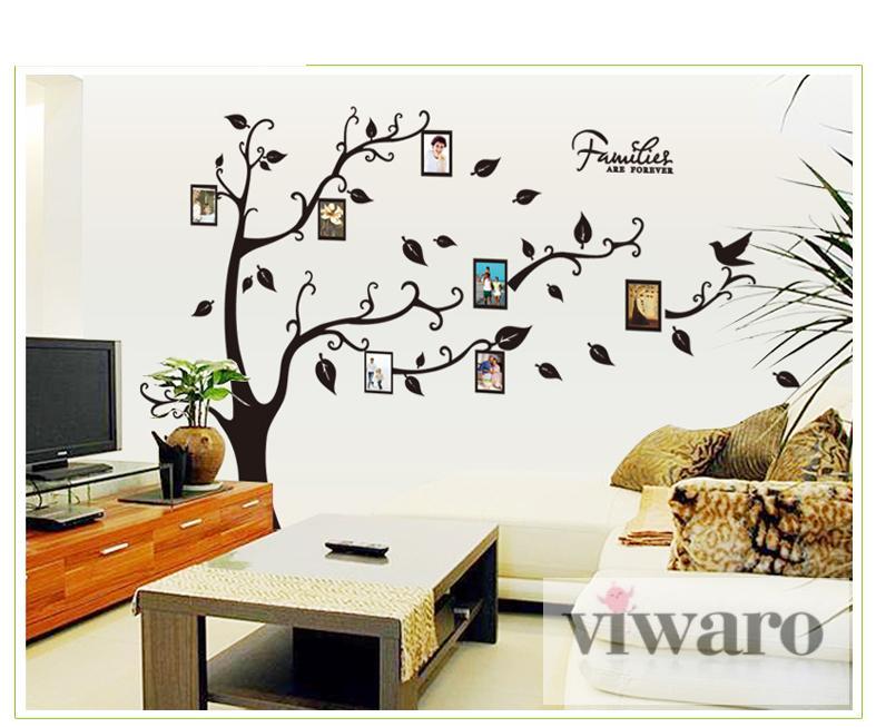 w170d baum wandaufkleber wandsticker dekoration wandtattoo. Black Bedroom Furniture Sets. Home Design Ideas