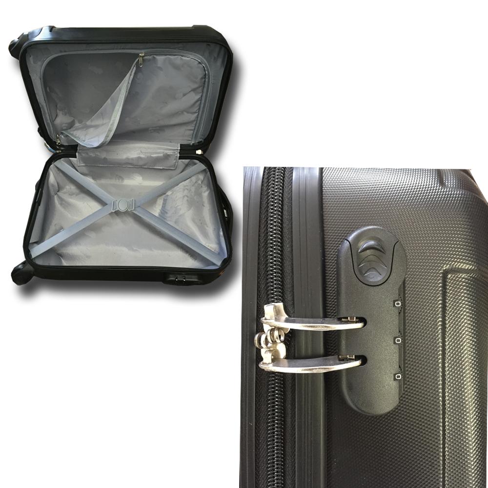 handgep ck trolley boardcase reise koffer hartschale cabin bordgep ck bag bord ebay. Black Bedroom Furniture Sets. Home Design Ideas