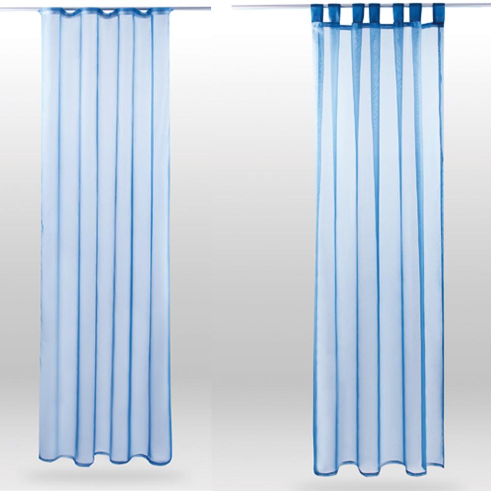 schal 140cm x 245cm gardine vorhang schlaufenschal deko fenster dekoschal deco ebay. Black Bedroom Furniture Sets. Home Design Ideas