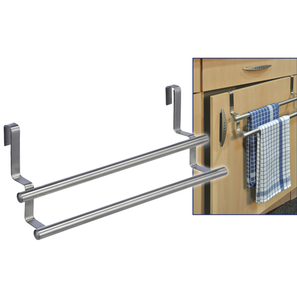 handtuchhalter edelstahl k che schrank halterung handtuch handtuchstange t r ebay. Black Bedroom Furniture Sets. Home Design Ideas