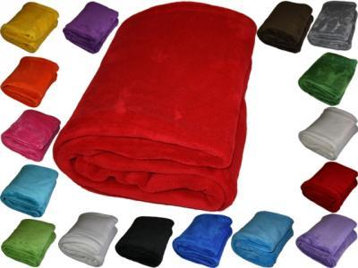 microfaser decke kuscheldecke mikrofaser wohndecke sofa ebay. Black Bedroom Furniture Sets. Home Design Ideas