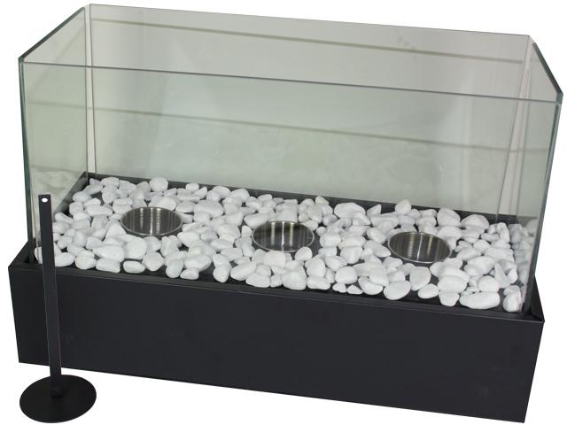 tischfeuer deko glas kamin feuer bio ethanol tischkamin. Black Bedroom Furniture Sets. Home Design Ideas