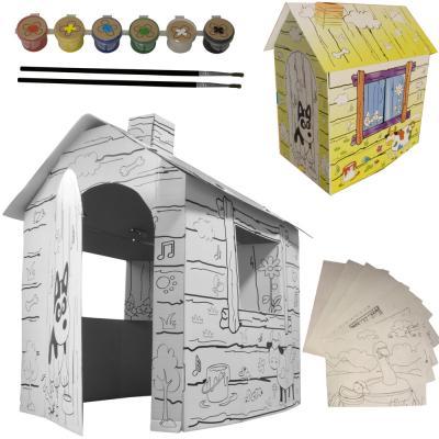 kinder papphaus malhaus spielhaus zum anmalen kartonhaus bastelhaus haus pappe ebay. Black Bedroom Furniture Sets. Home Design Ideas