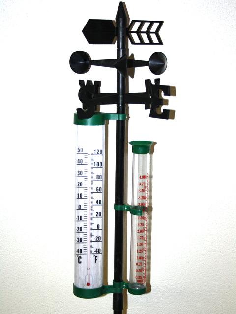 xxl thermometer regenmesser aussen wetterstation. Black Bedroom Furniture Sets. Home Design Ideas