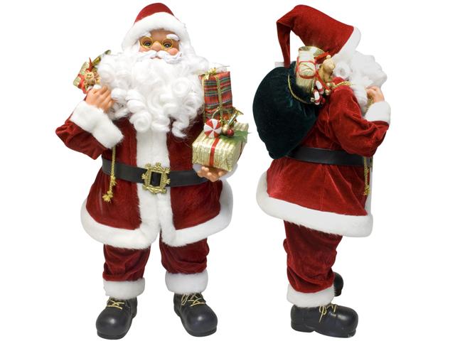 Sitzender Weihnachtsmann Groß : weihnachtsmann 60cm deko nikolaus santa clause figur gro weihnachts deko ebay ~ Indierocktalk.com Haus und Dekorationen