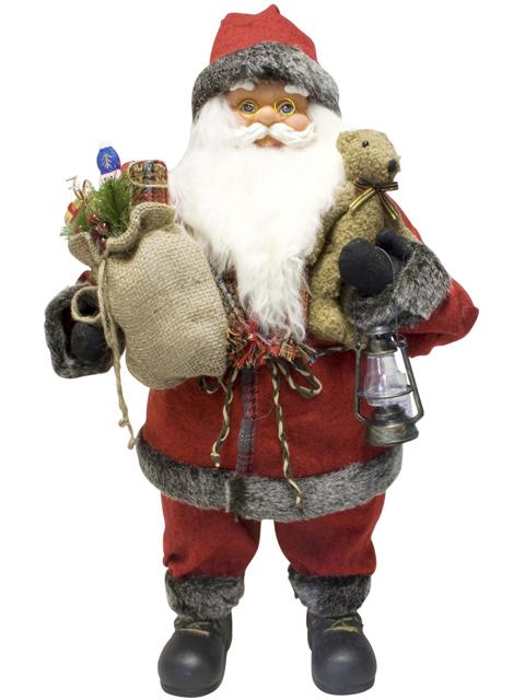 weihnachtsmann 60cm deko nikolaus santa clause figur gro weihnachts deko ebay. Black Bedroom Furniture Sets. Home Design Ideas