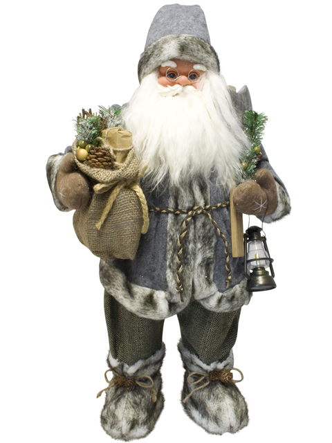 weihnachtsmann 60cm deko nikolaus santa clause figur gro weihnachts deko ebay. Black Bedroom Furniture Sets. Home Design Ideas