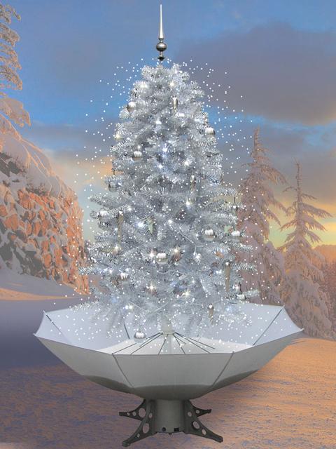 schneiender weihnachtsbaum 200cm schneefall tannenbaum k nstlicher schnee ebay. Black Bedroom Furniture Sets. Home Design Ideas