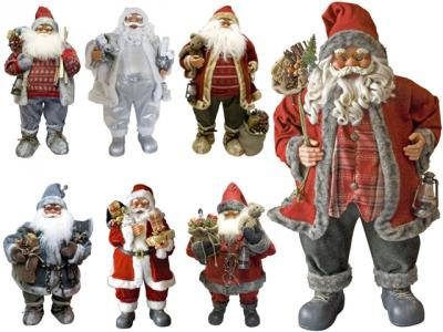 weihnachtsmann 80cm deko nikolaus santa clause figur gro weihnachts deko xxl ebay. Black Bedroom Furniture Sets. Home Design Ideas