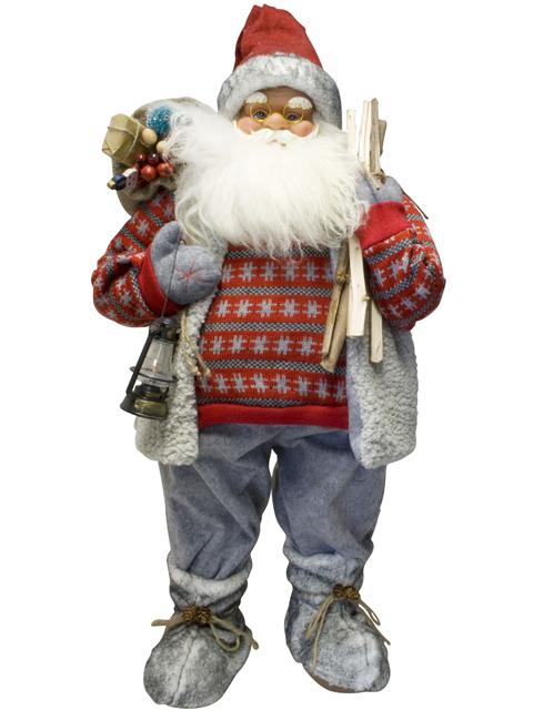 weihnachtsmann 80cm deko nikolaus santa clause figur. Black Bedroom Furniture Sets. Home Design Ideas