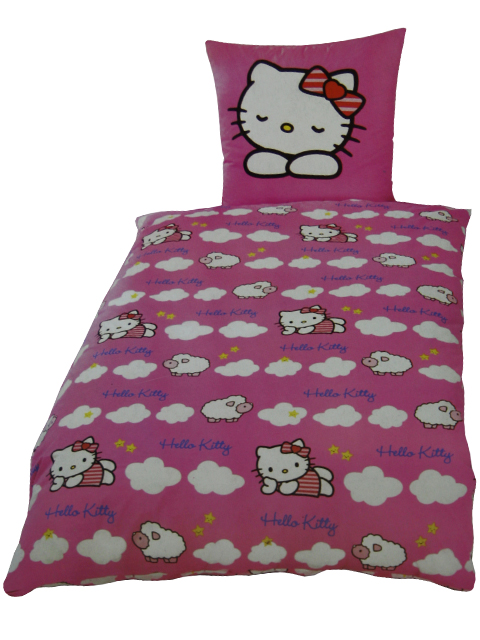 2 tlg bettw sche hello kitty sponge bob kinder bett. Black Bedroom Furniture Sets. Home Design Ideas