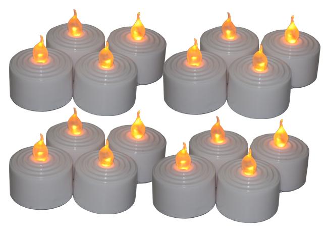 16 stk led teelicht elektrische teelichter flammenlose kerze mit batterie ebay. Black Bedroom Furniture Sets. Home Design Ideas