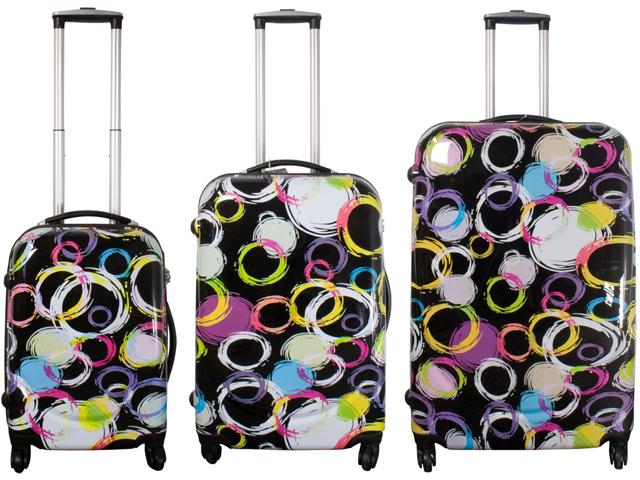 3 tlg designer koffer set polycarbonat abs hartschalen kofferset reise trolley ebay. Black Bedroom Furniture Sets. Home Design Ideas