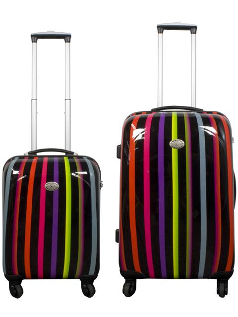 2tlg koffer set polycarbonat reisekoffer trolley hartschalen designer handgep ck ebay. Black Bedroom Furniture Sets. Home Design Ideas