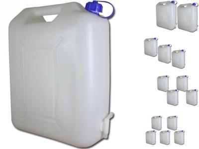 Komplett Neu Wasserkanister 20 Liter mit Hahn Camping Wasser Kanister 20L  TH78
