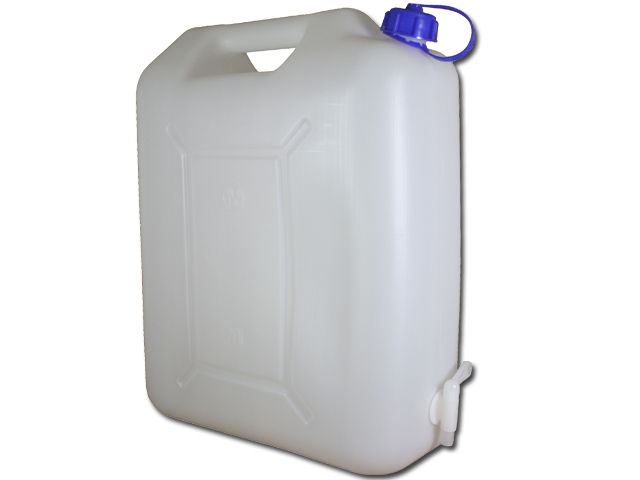 wasserkanister 20 liter mit hahn camping wasser kanister 20l trinkwasser ebay. Black Bedroom Furniture Sets. Home Design Ideas