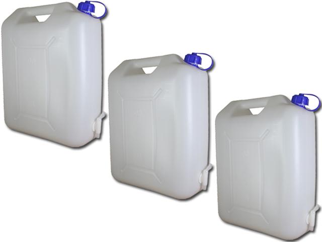 wasserkanister 20 liter mit hahn camping wasser kanister 20l trinkwasser ebay. Black Bedroom Furniture Sets. Home Design Ideas