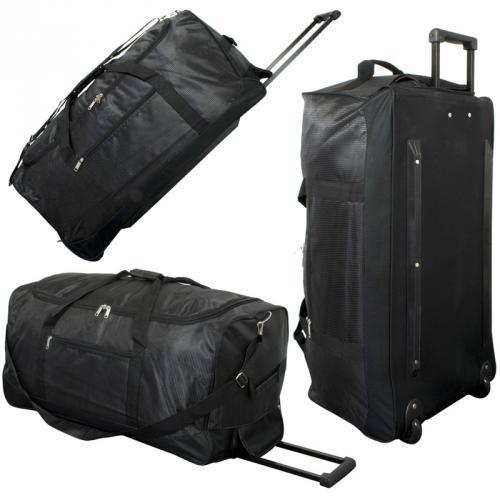 xxl reisetasche trolleytasche 90l mit rollen trolley sporttasche jumbo tasche ebay. Black Bedroom Furniture Sets. Home Design Ideas