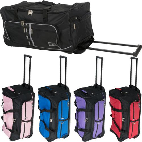 xxl reisetasche mit 2 rollen miami jumbo trolley sporttasche 90l trolly tasche ebay. Black Bedroom Furniture Sets. Home Design Ideas