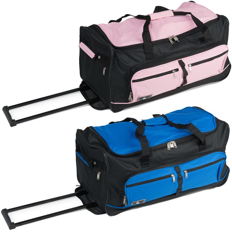 xxl reisetasche mit 2 rollen miami jumbo trolley sporttasche 90l trolly tasche. Black Bedroom Furniture Sets. Home Design Ideas