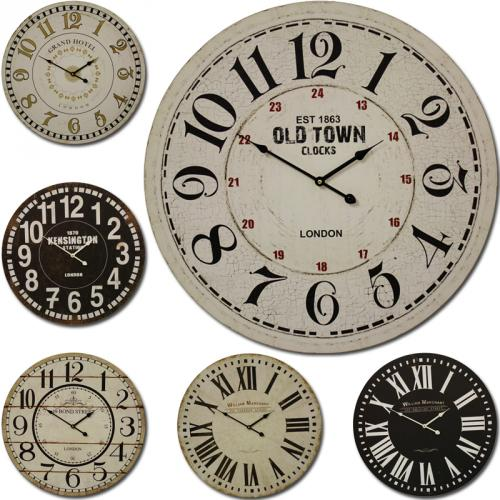 wanduhr xxl 60cm 29cm design retro uhr vintage nostalgie k chenuhr xl bahnhofs ebay. Black Bedroom Furniture Sets. Home Design Ideas