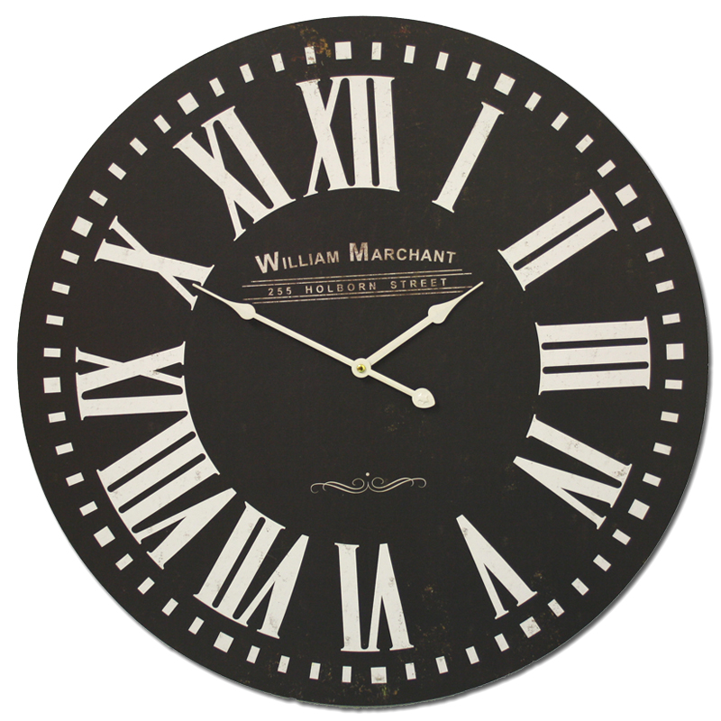 horloge murale xxl 60 cm 29 cm design r tro horloge vintage nostalgie horloge de cuisine xl. Black Bedroom Furniture Sets. Home Design Ideas