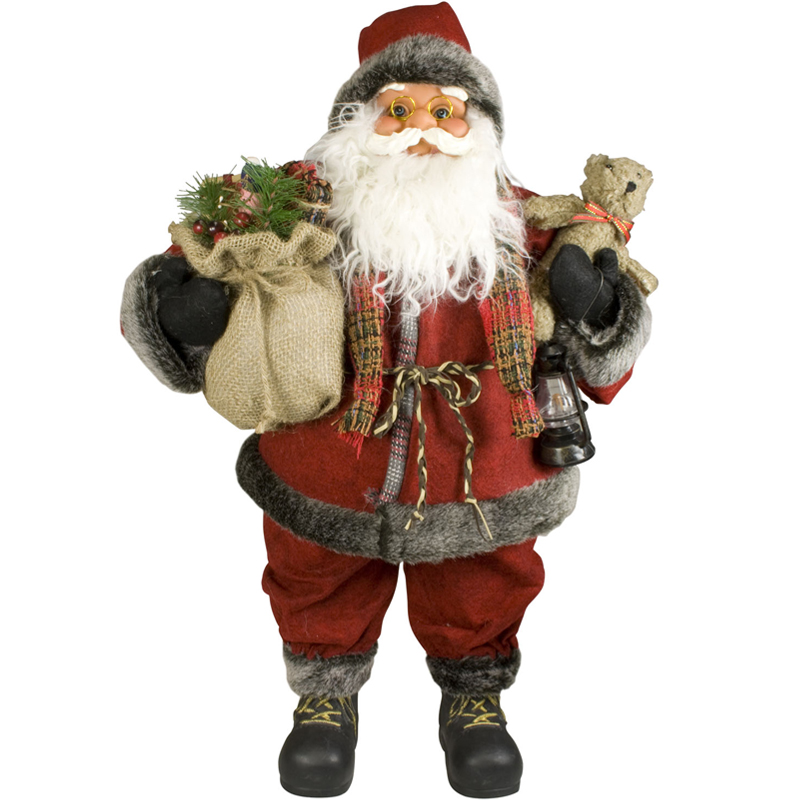 weihnachtsmann 60cm deko nikolaus santa clause figur gro weihnachts deko holz ebay. Black Bedroom Furniture Sets. Home Design Ideas